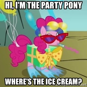pinkie pie dragonshy - Hi, i'm the party pony Where's the ice cream?
