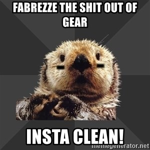 Roller Derby Otter - fABREZZE THE SHIT OUT OF GEAR Insta clean!