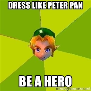 Quest Advice Link - dress like peter pan be a hero