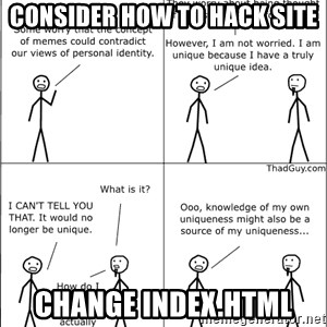 Memes - consider how to hack site change index.html
