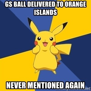 Pokemon Logic  - gs ball delivered to orange islands never mentioned again