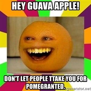 Annoying Orange Puns - hey guava apple! don't let people ttake you for pomegranted.