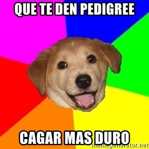 Advice Dog - Que te den pedigree cagar mas duro
