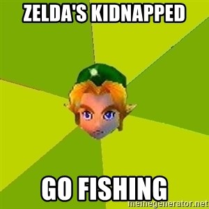Quest Advice Link - Zelda's kidnapped Go fishing