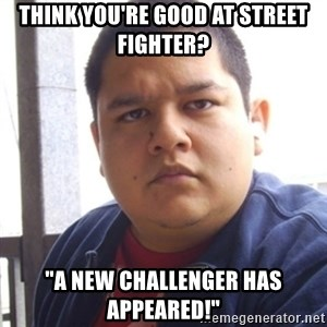 "Challenger Carlos - Think you're good at Street fighter? ""A new challenger has appeared!"""
