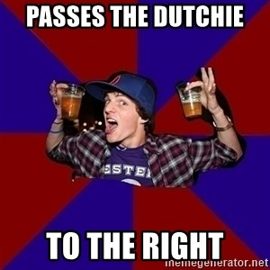 Sunny Student - Passes the Dutchie  to the right