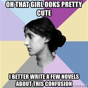 Maiden Philologist - oh that girl ooks pretty cute I better write a few novels about this confusion
