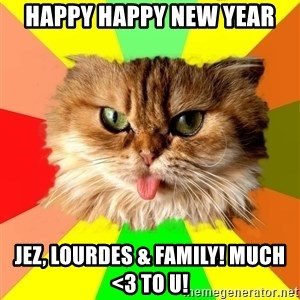 dangerous cat - happy happy new year jez, lourdes & family! much <3 to u!