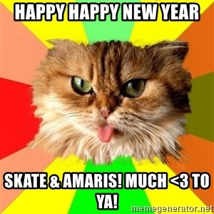 dangerous cat - happy happy new year  skate & amaris! much <3 to ya!