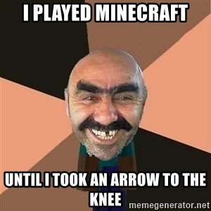 minecraft_dyshanbe - i PLAYED MINECRAFT UNTIL i TOOK AN ARROW TO THE KNEE