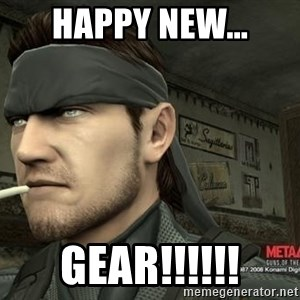 Solid Snake - Happy New... gear!!!!!!
