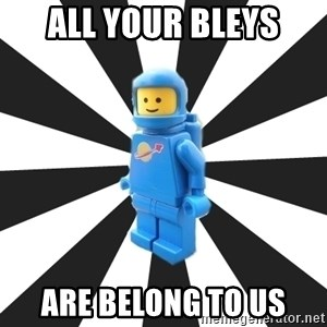 LEGO man - All your bleys are belong to us