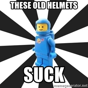 LEGO man - These old helmets Suck