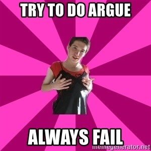 Creepy Carlin - try to do argue always fail