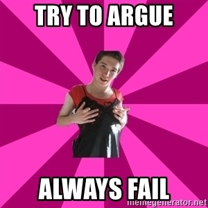 Creepy Carlin - try to argue always fail