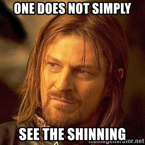 Boromir - one does not simply see the shinning