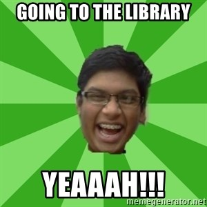 Excited Brown Kid - Going to the library yeaaah!!!
