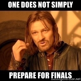 Lord Of The Rings Boromir One Does Not Simply Mordor - one does not simply prepare for finals