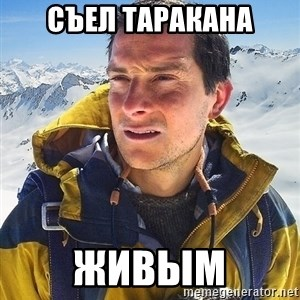 Bear Grylls Loneliness - съел таракана ЖИВЫМ