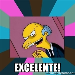 Mr. Burns - excelente!