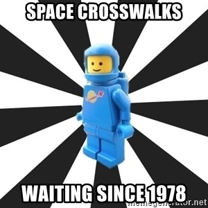 LEGO man - space crosswalks waiting since 1978