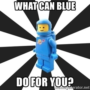 LEGO man - What can blue do for you?