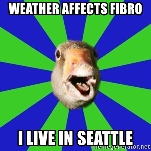 Fibromyalgia Duck - weather affects fibro  i live in seattle