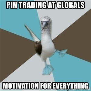 Destination Imagination Derp Bird - Pin trading at globals motivation for everything