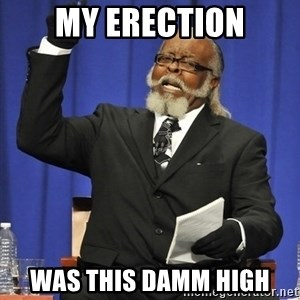 Rent Is Too Damn High - My erection was this damm high