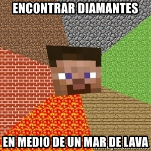 Minecraft Guy - Encontrar diamantes en medio de un mar de lava