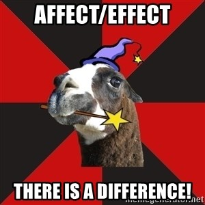 Epic Level Llama - AFFECT/EFFECT THERE IS A DIFFERENCE!