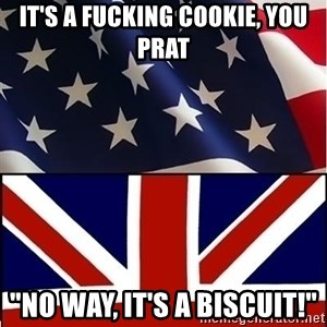 "Americabritain - It's a fucking cookie, you prat ""no way, it's a biscuit!"""