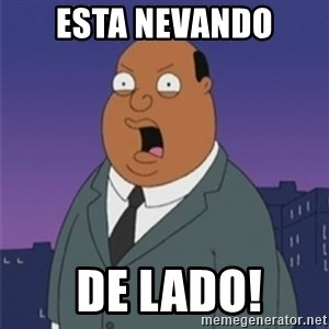 ollie williams - esta nevando  DE LADO!