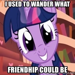 Twilight MLP FIM - I USED TO WANDER WHAT FRIENDHIP COULD BE