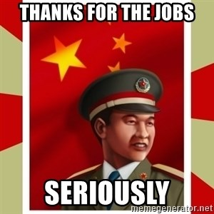 Stern but honest Chinese guy - Thanks for the jobs seriously