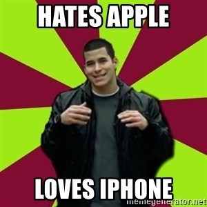 Contradictory Chris - HAtes Apple Loves iphone