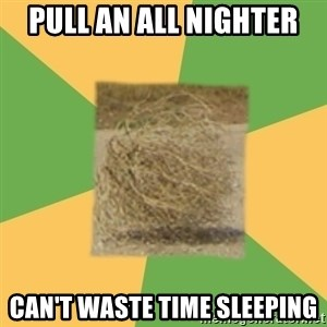 Busy Tumbleweed - pull an all nighter can't waste time sleeping