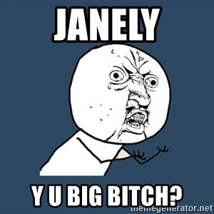Y U No - Janely y u big bitch?