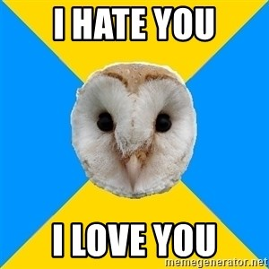 Bipolar Owl - i hate you i love you