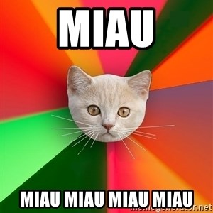 Advice Cat - miau miau miau miau miau