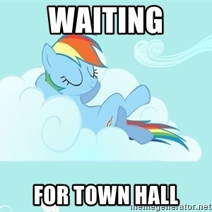 My Little Pony - waiting for town hall