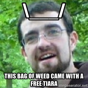 Stoned Tourist - \___/ THIS BAG OF WEED CAME WITH A FREE TIARA
