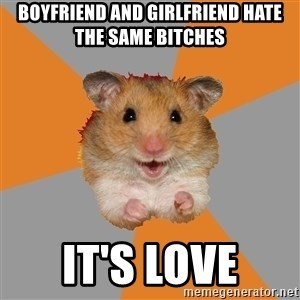 hamster seiyuulover - boyfriend and girlfriend hate the same bitches it's love