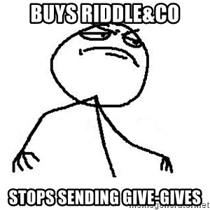 Like A Boss - Buys Riddle&co Stops sending GIve-gives