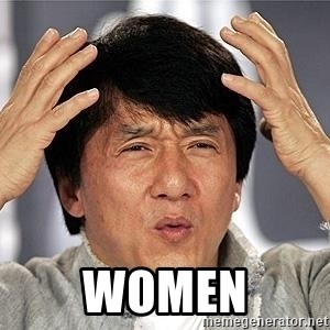 Confused Jackie Chan - Women