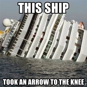 Sunk Cruise Ship - This Ship Took an arrow to the knee