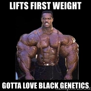 Giga Nigga - LIFTS FIRST WEIGHT GOTTA LOVE BLACK GENETICS