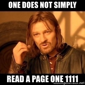 Lord Of The Rings Boromir One Does Not Simply Mordor - One Does Not Simply Read A page one 1111