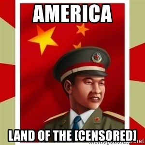 Stern but honest Chinese guy - America land of the [censored]