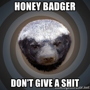 Fearless Honeybadger - Honey Badger  Don't give a Shit